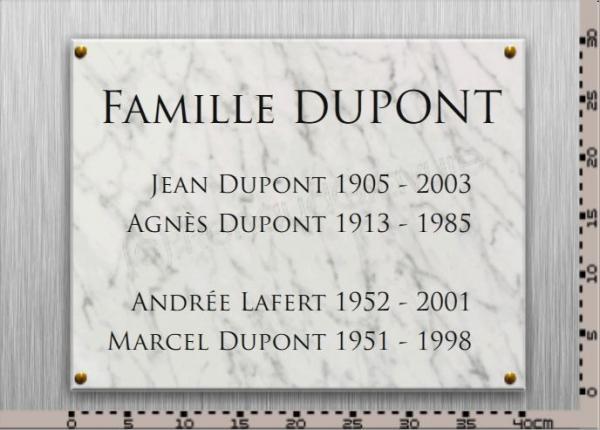Plaques fun raires en marbre blanc personnaliser for Prix d une plaque de marbre