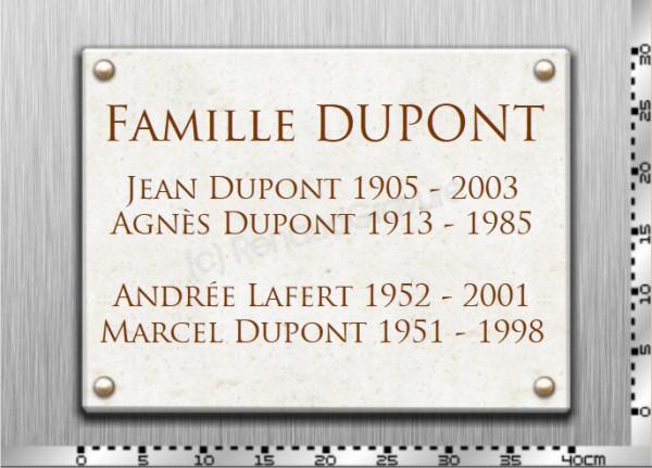 Plaques pour monuemnts funéraires et supultures