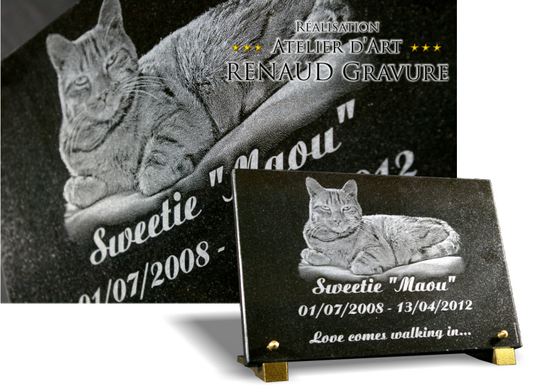 plaque fun raire granit pour tombe de cimeti re. Black Bedroom Furniture Sets. Home Design Ideas