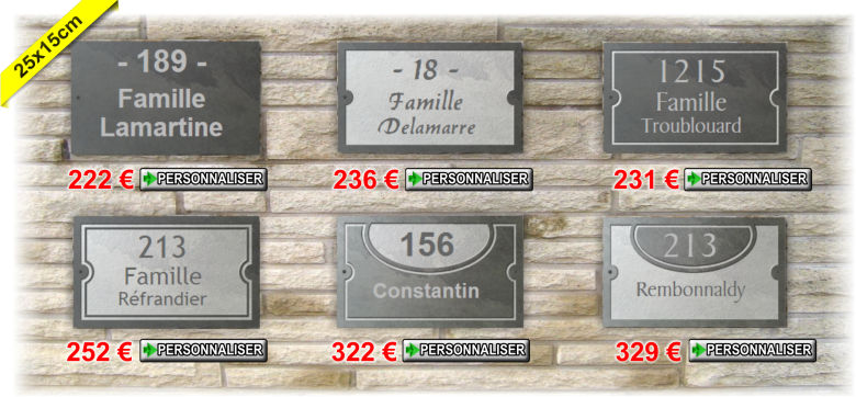 plaques en ardoise 25x15cm
