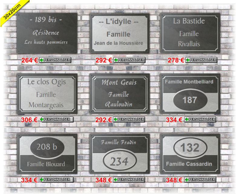 Plaques ardoise 30x20cm