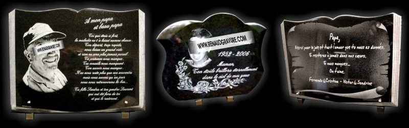 plaques funeraires photo portrait d 39 art personnalis. Black Bedroom Furniture Sets. Home Design Ideas