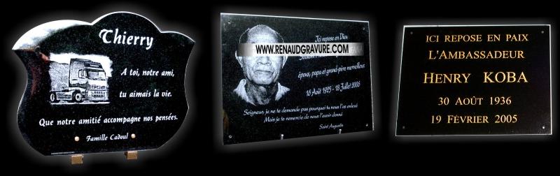Les plaques funèbres de ce site sont des photos de réalisation exclusives RENAUD Gravure.