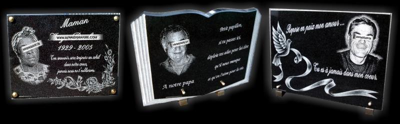 Plaque mortuaire à personnaliser