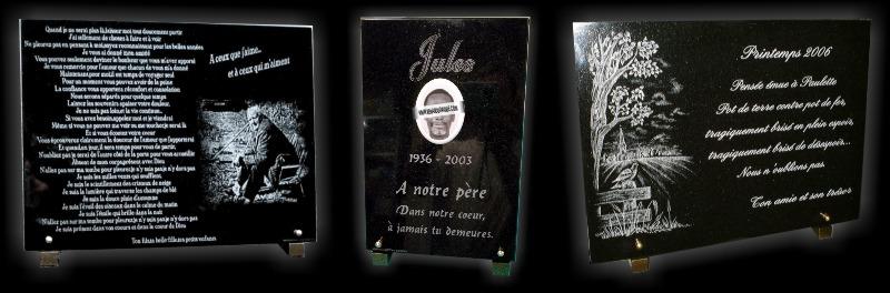 Reproduction de photos sur des plaques de tombes pour poser sur le monument funéraire en cimetière